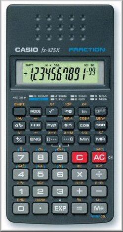 Casio fx 82sx technisch wissenschaftlicher rechner